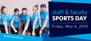 Register your team now for 2018 Staff & Faculty Sports Day