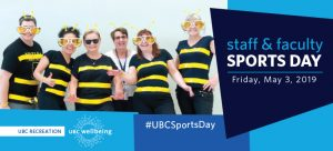 Staff & Faculty Sports Day:  May 3, 2019